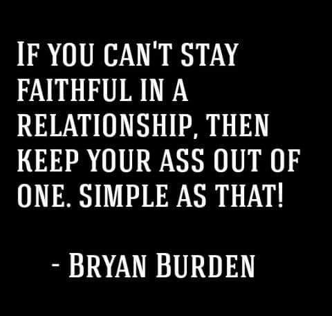 Faithful in a Relationship